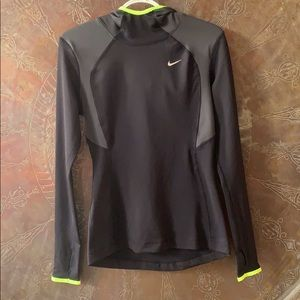Nike Dri-fit Fitted Running Top w/ Hood